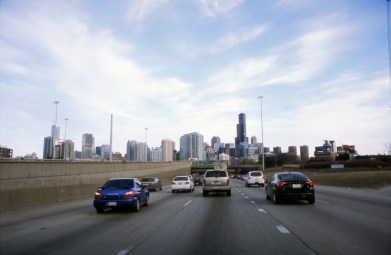And I have to say the following every time I see the skyline of Chicago: It's a hundred and six miles to Chicago, we've got a full tank of gas, half a pack of cigarettes, it's dark, and we're wearing sunglasses.- Hit it!
